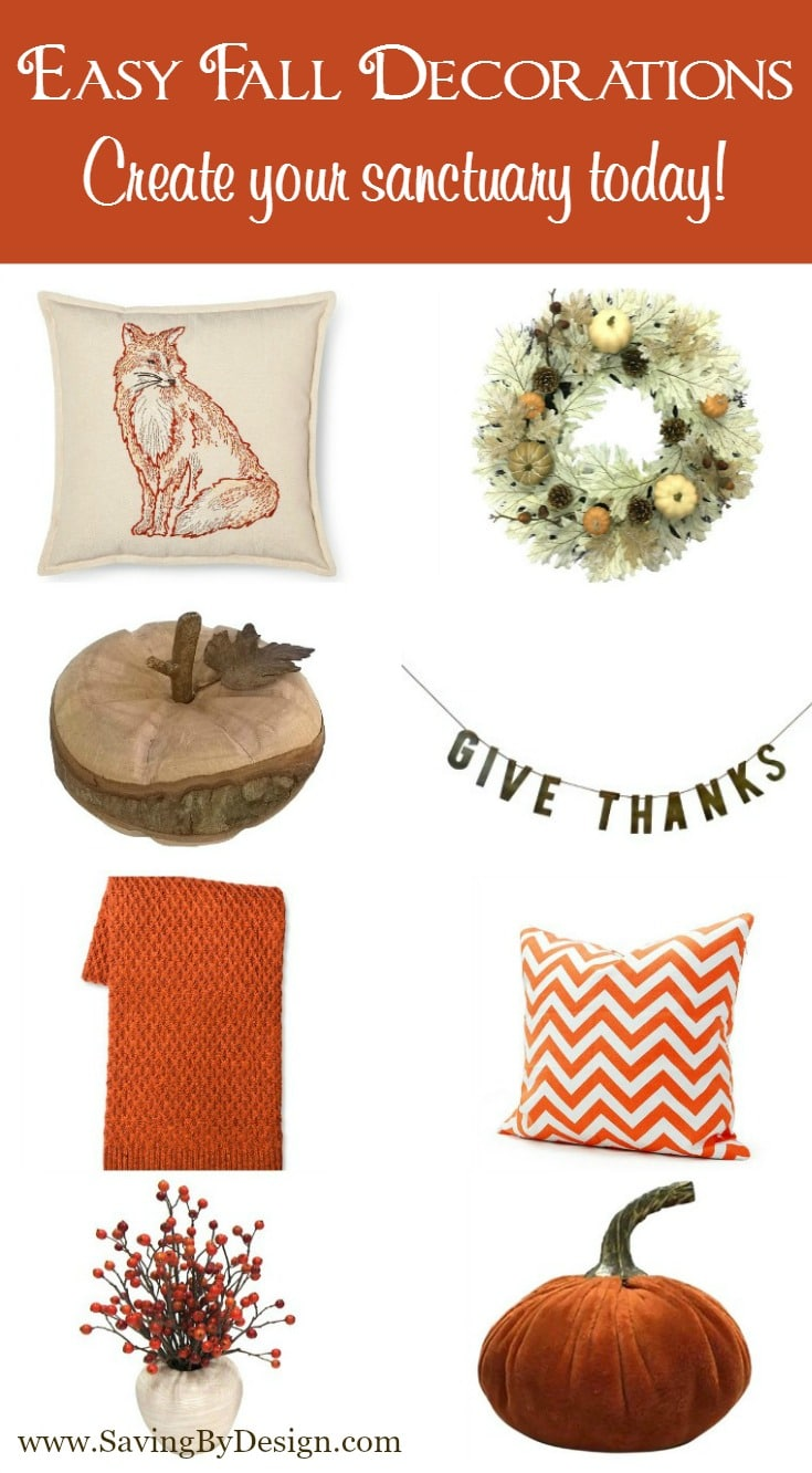 LOVE these quick and easy fall decorations! A great list to create all the autumn you need :)
