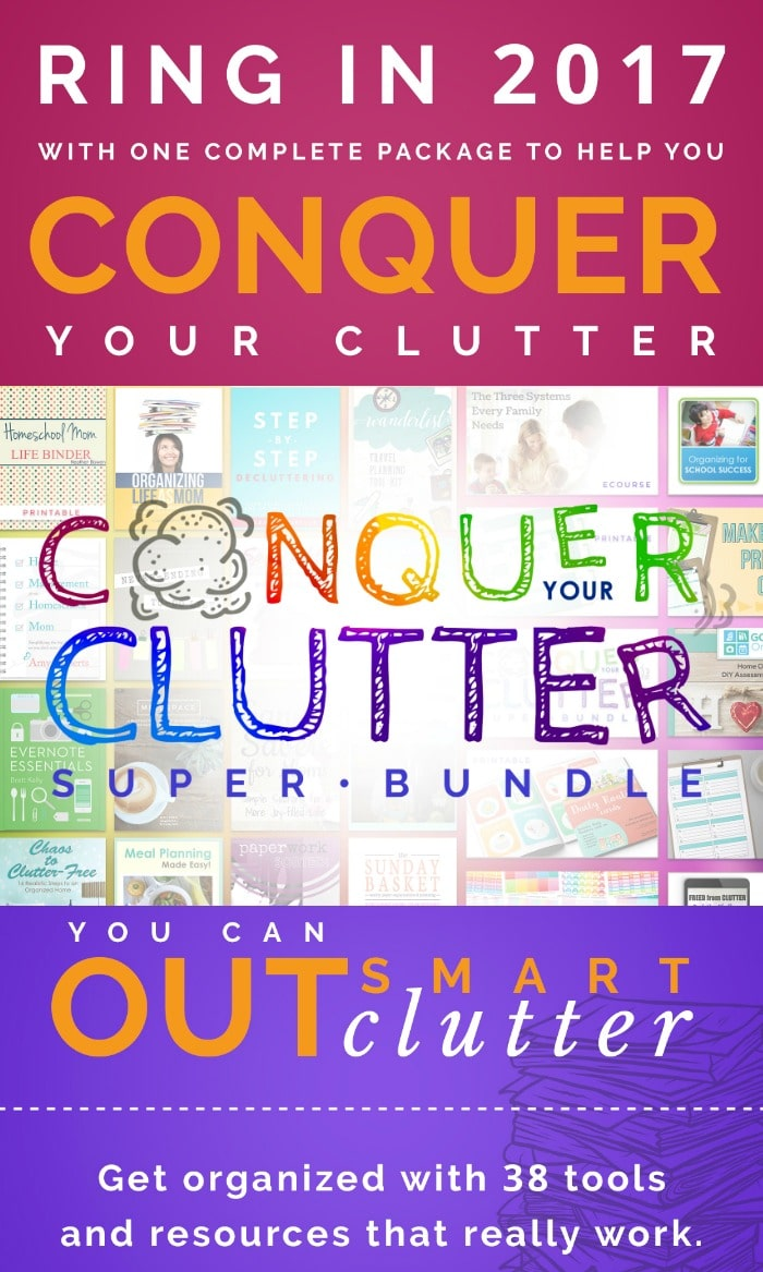 Tired shuffling papers and looking for your missing shoe, or your vanishing purse? Say good-bye to the mess with The Conquer Your Clutter Super Bundle!