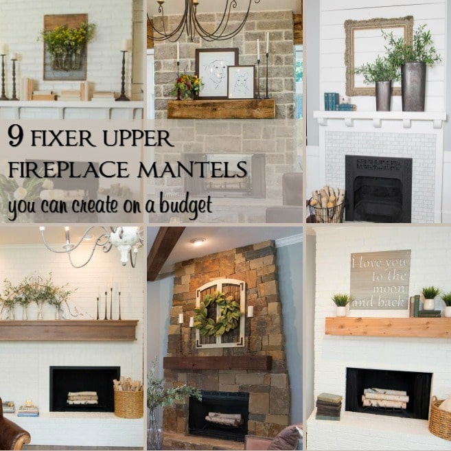 9 Fixer Upper Fireplace Mantels You Can Create on a Budget