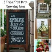 These frugal front porch decorating ideas will help take your entryway from drab to fab without breaking the bank! You'll be excited to show off your porch!