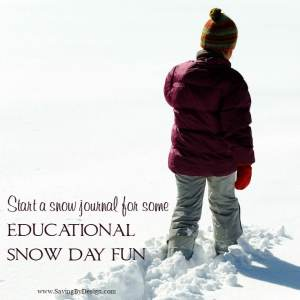 How to Start a Snow Journal for Some Educational Snow Day Fun