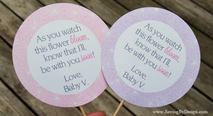how to create beautiful and easy flower baby shower favors