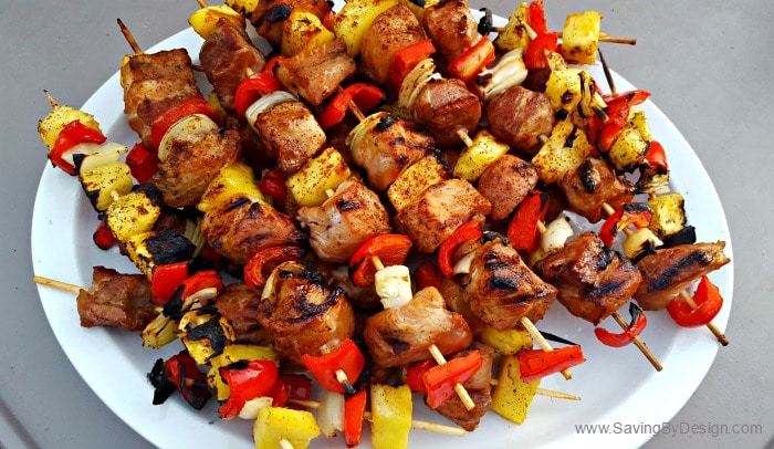 I just can't get enough of these pineapple teriyaki pork kabobs! These sweet, salty, and scrumptious kabobs are perfect for your next summer barbecue!
