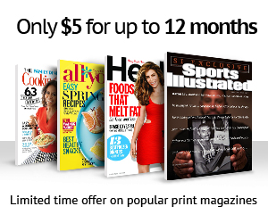Amazon Exclusive – $5 Magazine Subscription: Sports Illustrated, Cooking Light, Health, All You, Essence and many more