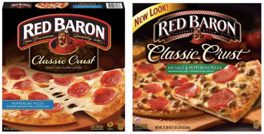 Save $1.00 off two (2) RED BARON Pizzas