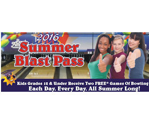 Bowl America Summer Blast Pass - Free Bowling All Summer!