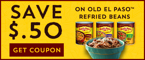 Walgreens ~ Old El Paso Refried Beans Only $0.50 with Coupon
