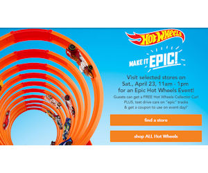Toys R Us – Free Hot Wheels Car on Saturday, 4/23