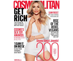 Free Subscription to Cosmopolitan Magazine – 1st 10,000!