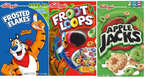 SAVE – $3.00 off any FIVE Kelloggs Cereals