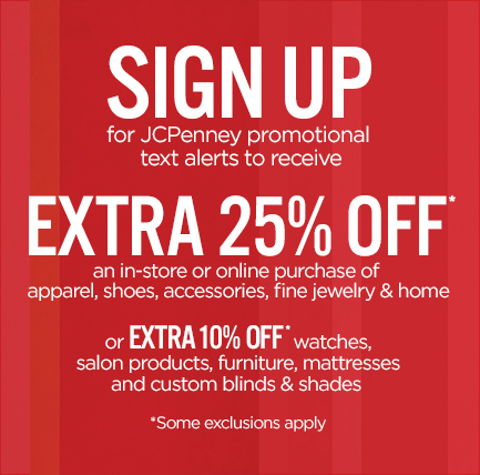 *Hot* JCPenney – Save 25% Off Coupon!