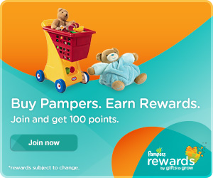 Pampers Rewards:  Receive 100 Free Points When You Join!