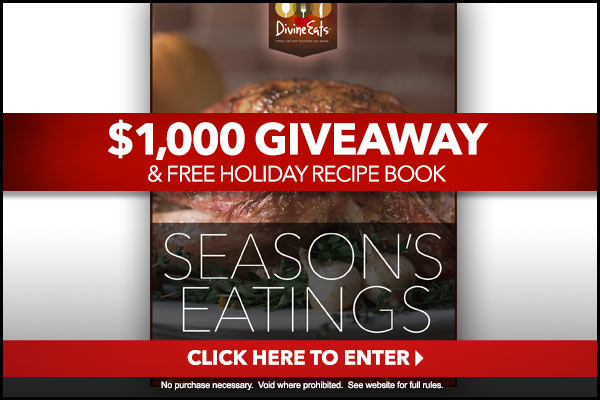 Enter $1,000 GIVEAWAY & FREE HOLIDAY RECIPE BOOK!