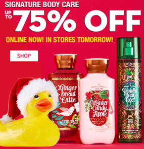 Bath & Body Works After Christmas Sale – Save Up To 75% Off!
