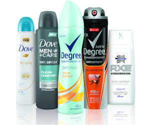 Free Full Size Dry Spray Antiperspirant