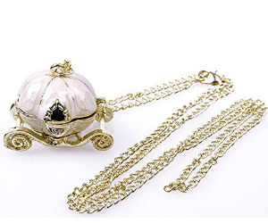 Amazon – Cinderella Pumpkin Carriage Necklace on Sale for $2.42 Shipped!