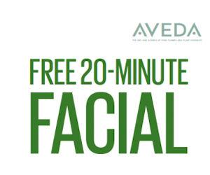 Free 20-Minute Facial at Aveda Stores!