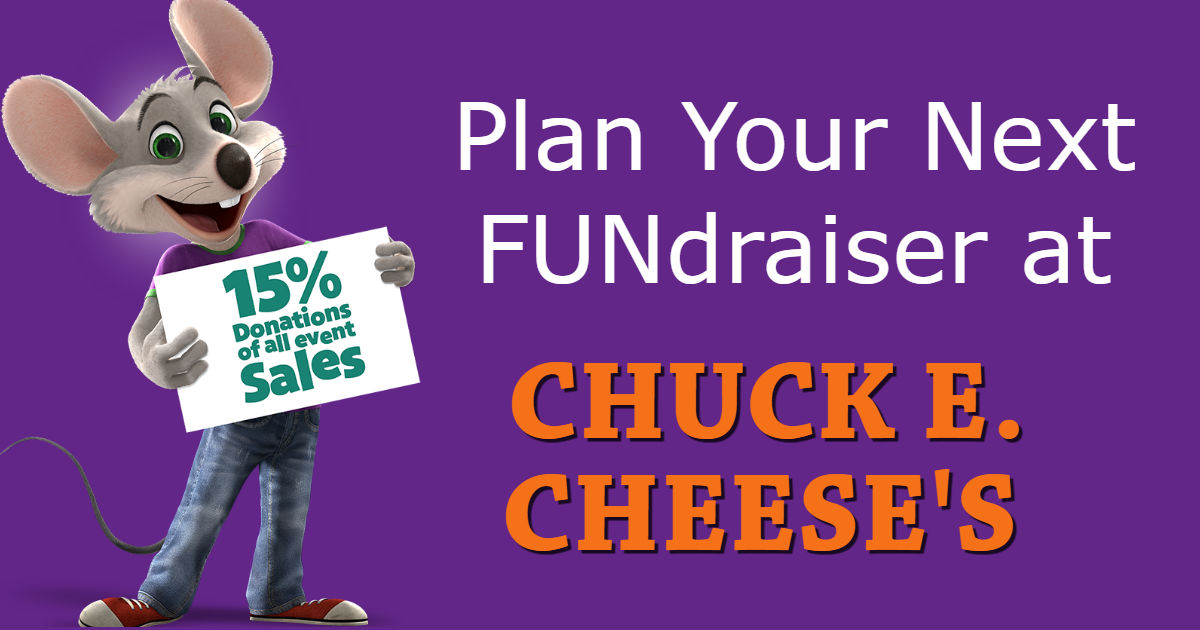 Have Your Next FUNdraiser at Chuck E. Cheese