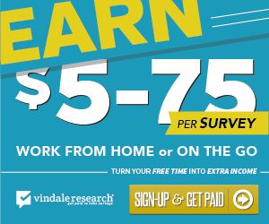 Make $5-$75 per Survey with Vindale Research