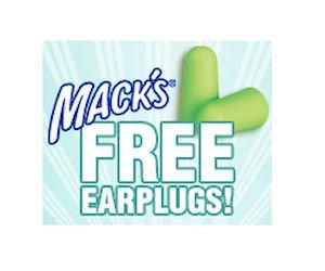 Free Pair of Mack's Ear Plugs – Every Weekday