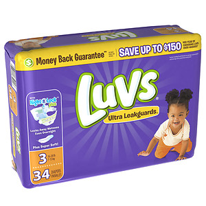 New Coupon – Save $2.00 ONE Luvs Diapers