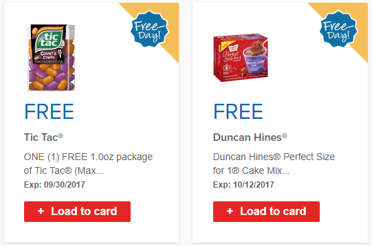 Free Duncan Hines Perfect Size for 1 & Tic Tac at Select Stores