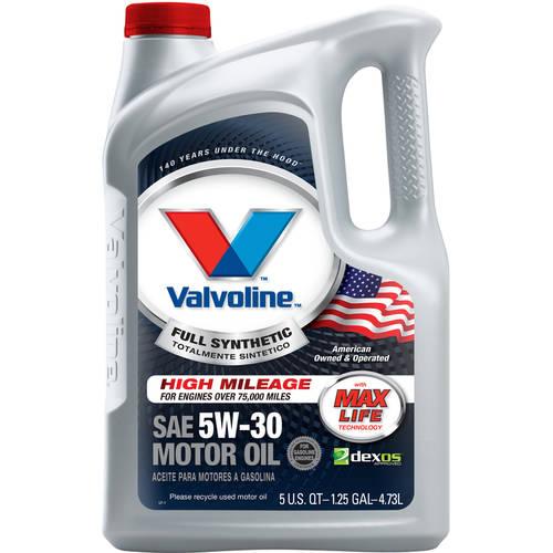 Valvoline Conventional or MaxLife Motor Oil