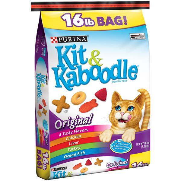 Save $2/1 16 lb. bag of Purina Kit & Kaboodle Original Dry Cat Food