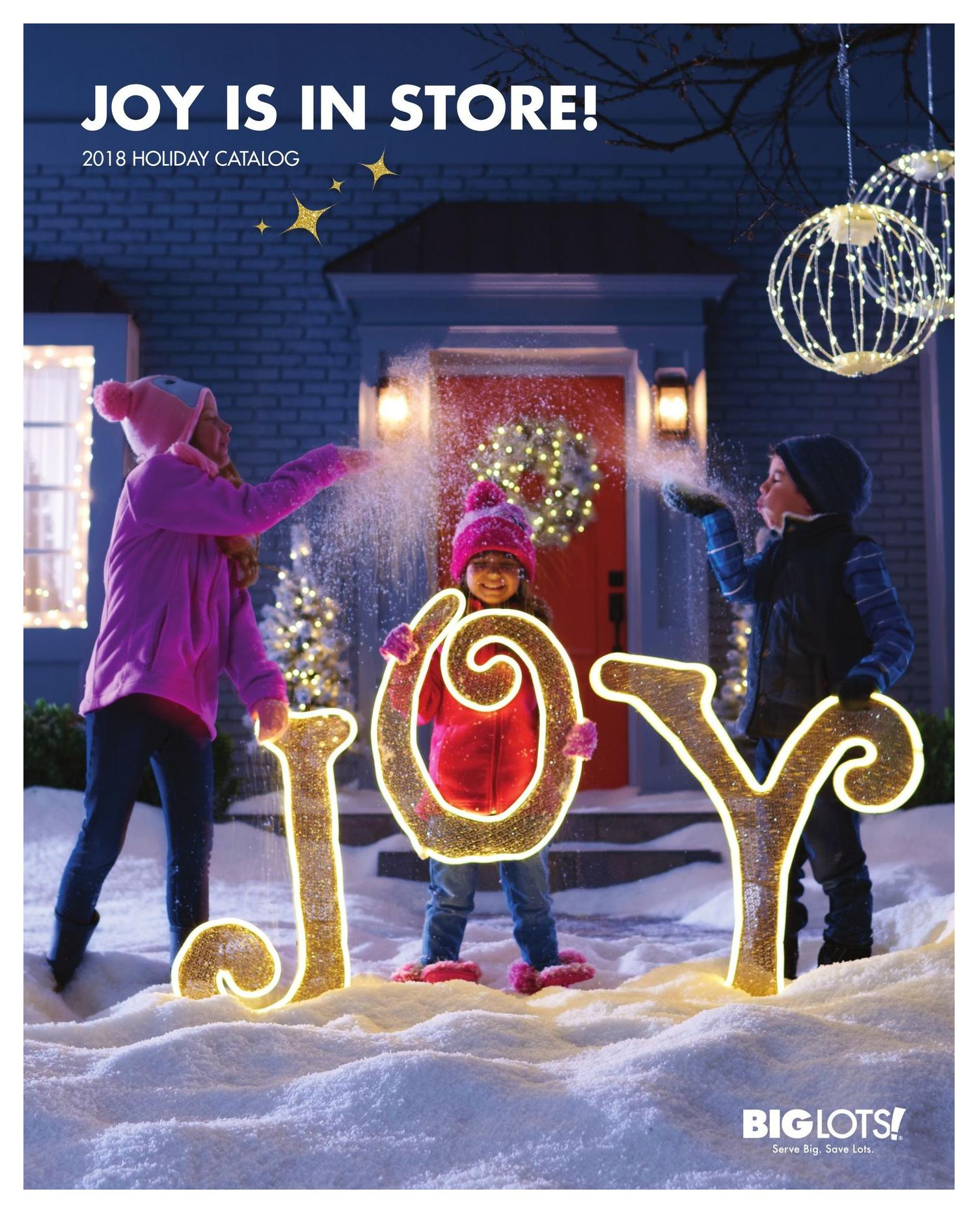 The 2018 Big Lots Holiday Catalog Is Available