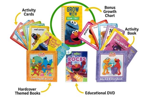 Elmo's Learning Kit: 2 Hardcover Books, DVD & More ONLY $3.99