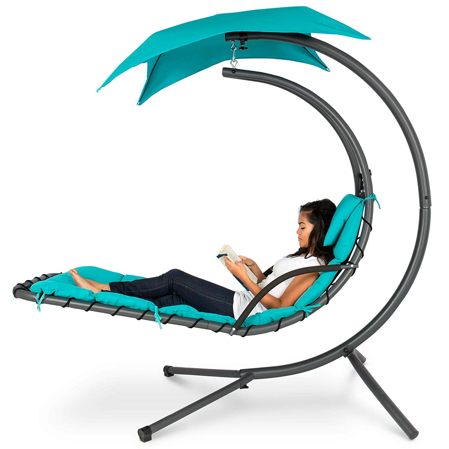Hanging Curved Chaise Lounge Chair Swing Only $164.99 (Reg. $399.99) + FREE SHIPPING