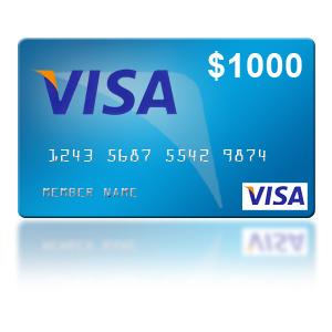Win a $1,000 Visa Gift Card
