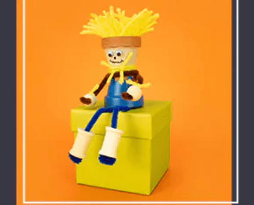 Free Clay Pot Scarecrow at Michaels