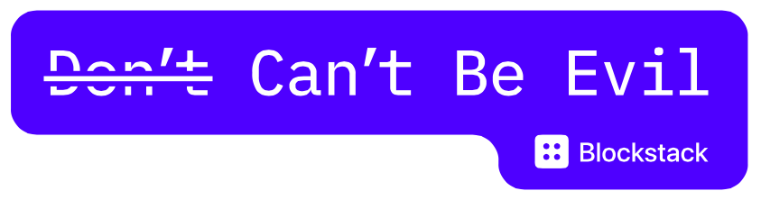 Free Don't Can't Be Evil Sticker
