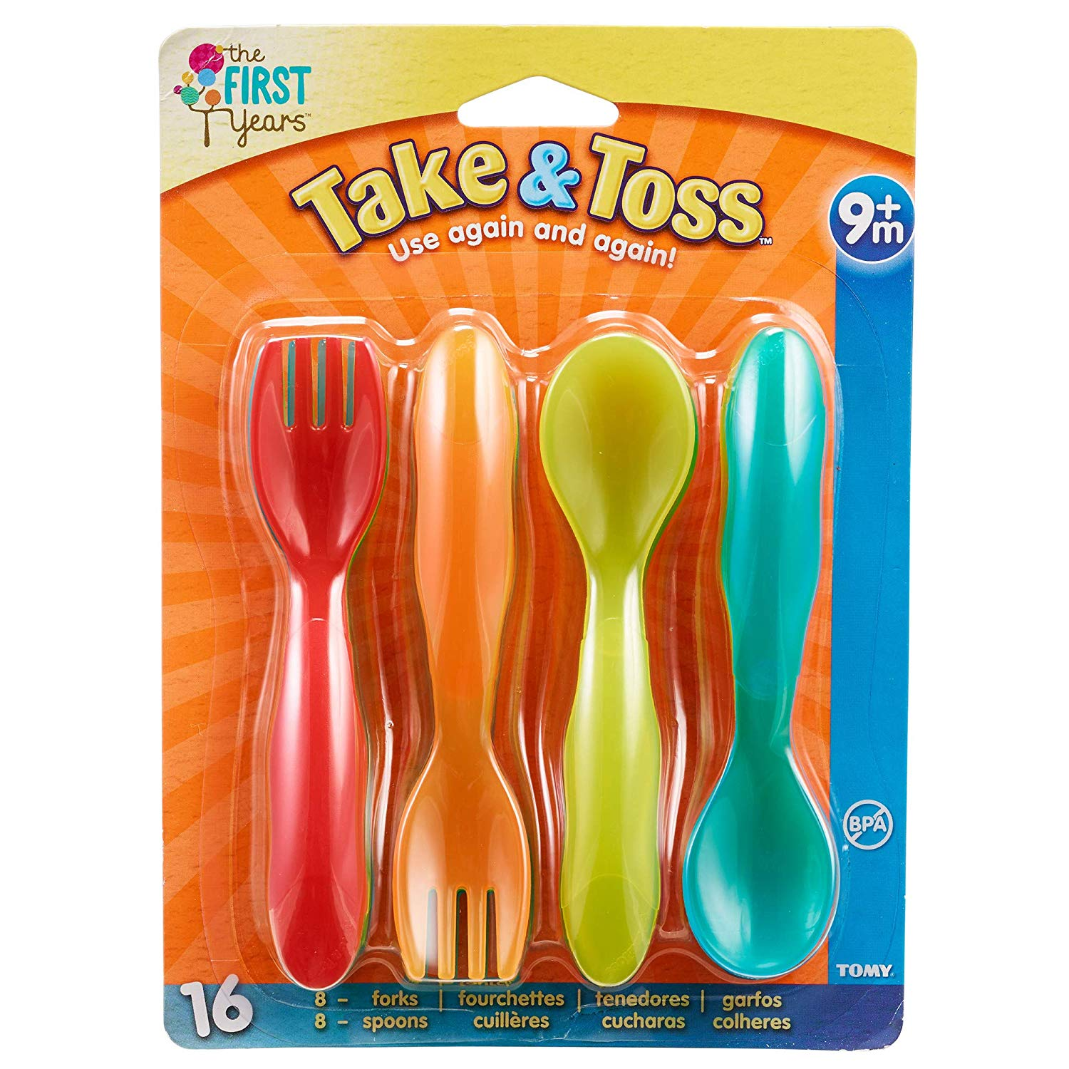 The First Years Take & Toss Flatware for Kids 16-Pc ONLY $1.95