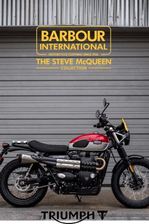 Win a Barbour International Customized Triumph Motorcycle
