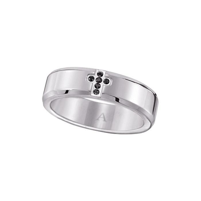 Men's Stainless Steel Cross Accent Ring Only $16.99 (Reg.$32.99)