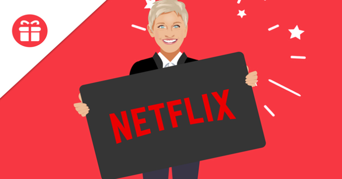Hurry! Ends Tomorrow – Win a 5-Year Netflix Subscription from Ellen