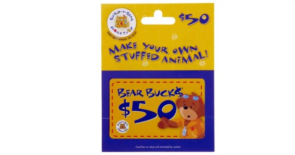 $50.00 Build-A-Bear Gift Card for $40.00