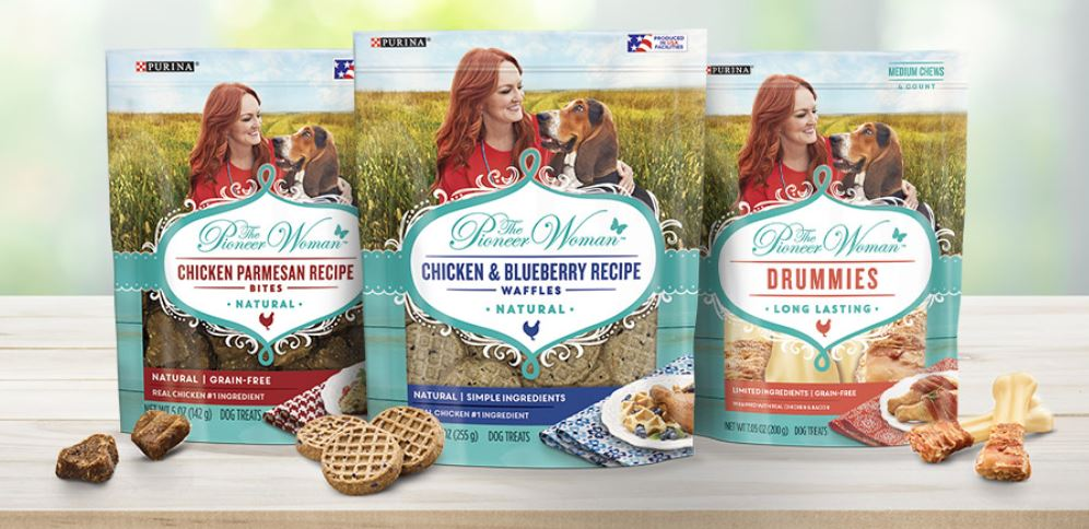 Save $1.50/2 Packages of The Pioneer Woman Dog Treats