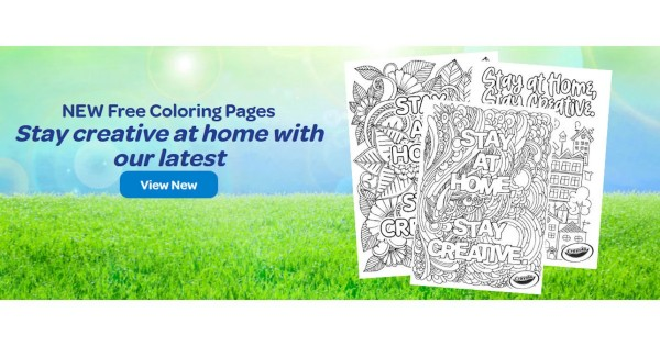 Free Crayola Stay Creative at Home Coloring Pages