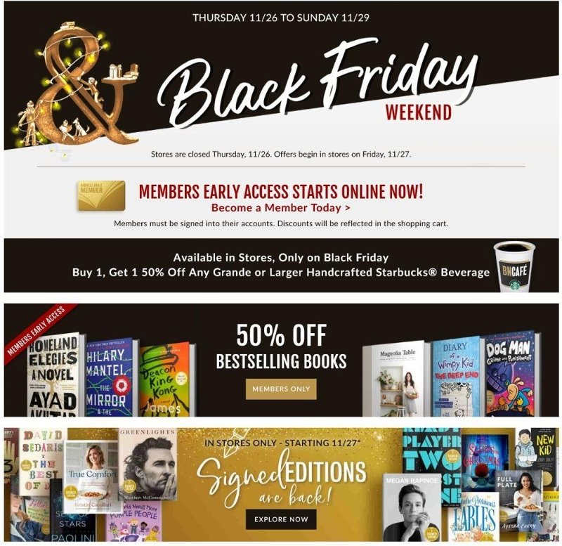 Barnes & Noble Black Friday Ad Preview