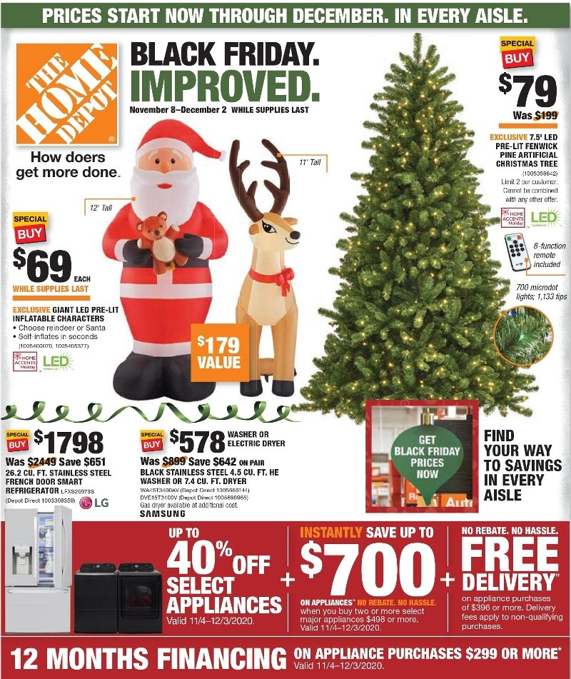 Home Depot Black Friday Ad Preview