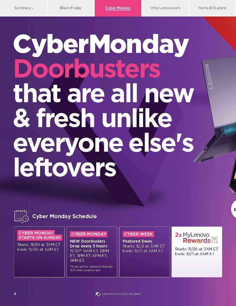 Lenovo Cyber Monday Deals