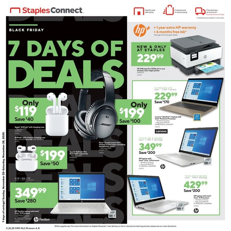 Staples Black Friday Ad Preview