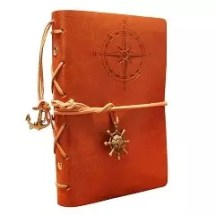 AKStore 7 x 5 Inches Vintage Retro Leather Cover Notebook