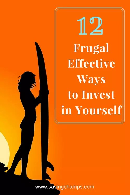 Learn about how to invest in yourself in 12 frugal but effective ways. Investing in personal growth is important for living a happy fulfilling life. | self-improvement, personal development, positivity, productivity, self-investment