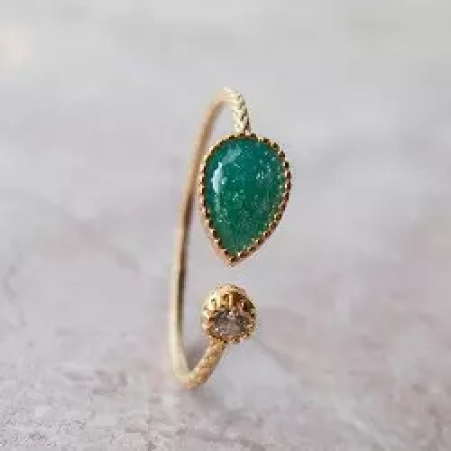 Open ring - Dark Turquoise Green