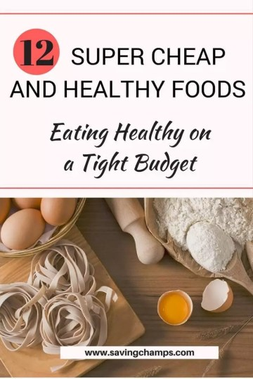 how to eat healthy for cheap