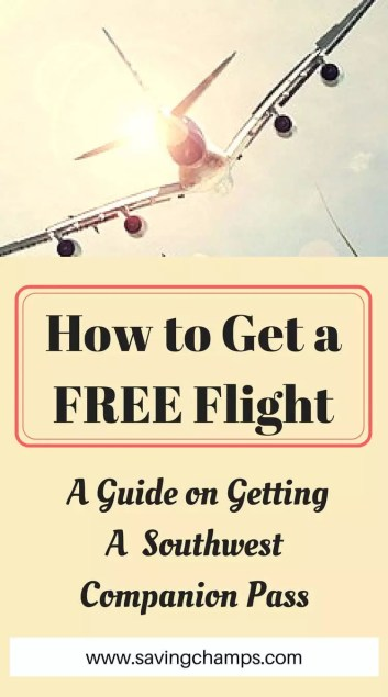 how to get a free flight